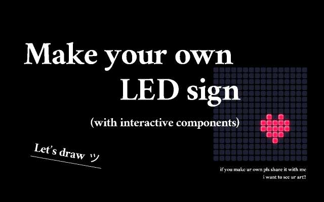 🔆 make an led sign figma