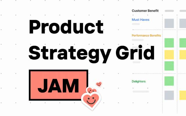 ? Product Strategy Grid FigJam Template