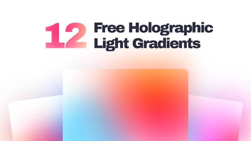 12 Free Holographic Light Gradients figma