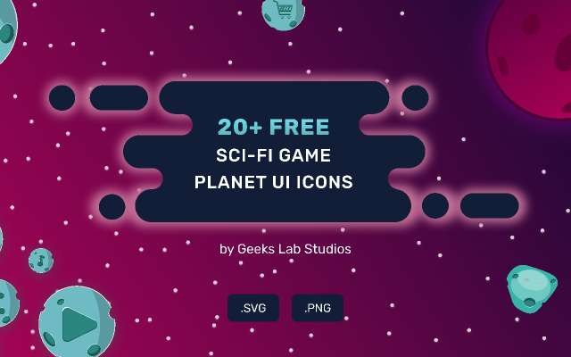 20+ FREE SCI-FI Game Planet UI ICONS figma