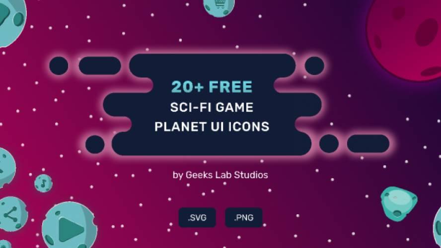 20+ FREE SCI-FI Game Planet UI ICONS figma