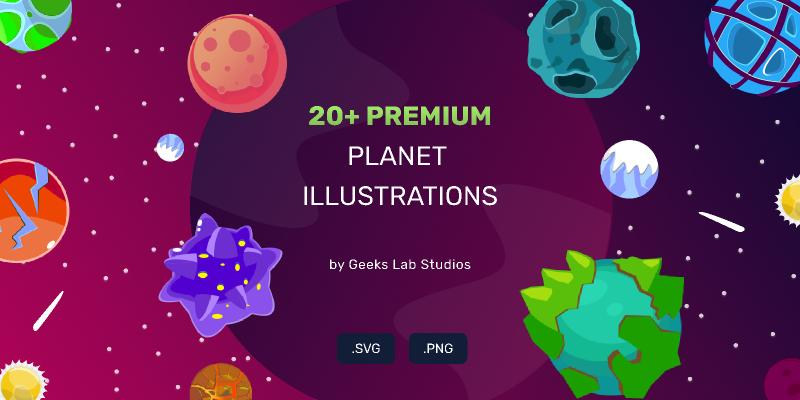 20+ Premium Planet Illustrations figma