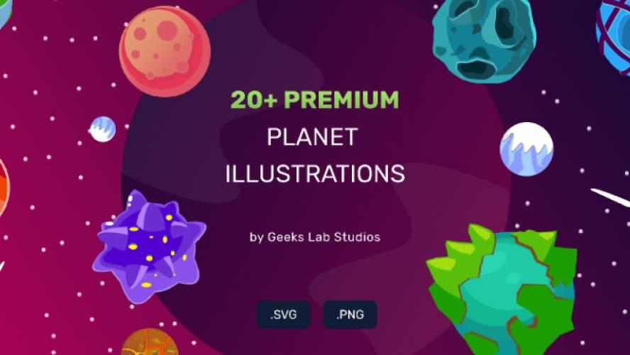 20+ Premium Planet Illustrations figma