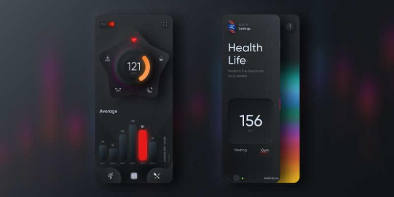 2020 Health App  figma free