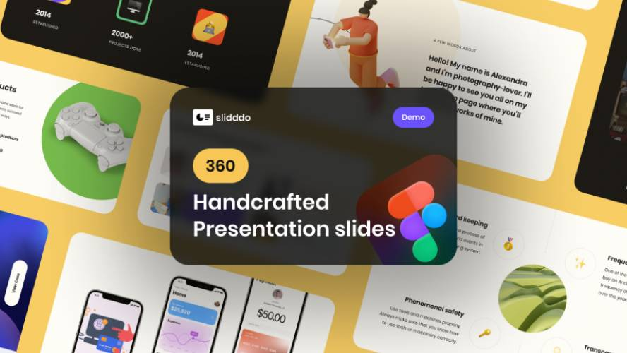 360 Clean Slides Figma Template