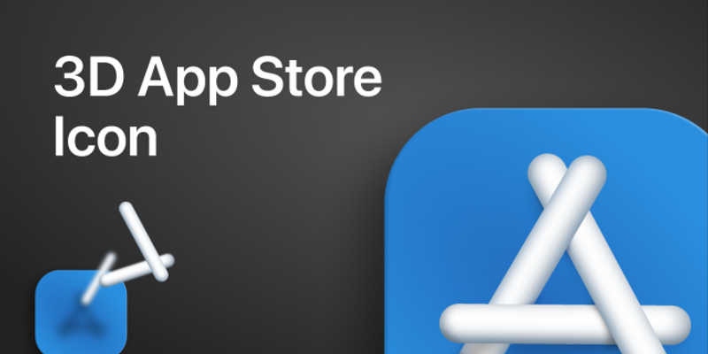 3D App Store Icon Figma free