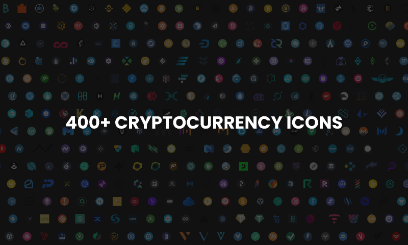 400+ Cryptocurrency Icons Figma