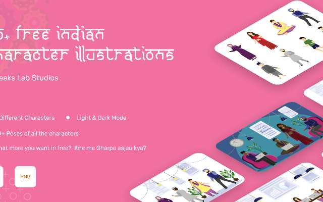 50+ Free Indian Character Illustrations figma