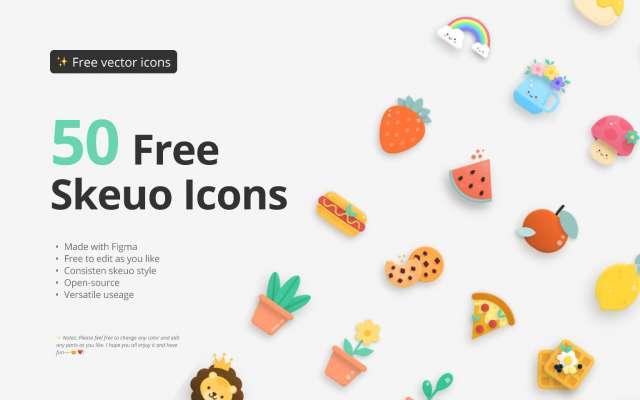 50 Free skeuo icons figma