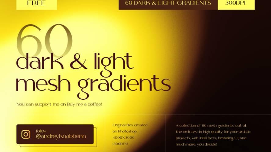 60 Dark & Light Mesh Gradients Figma Free Download