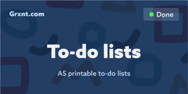 A5 printable to-do list - Grxnt.com