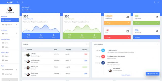 Able Pro Angular 9 Admin Dashboard