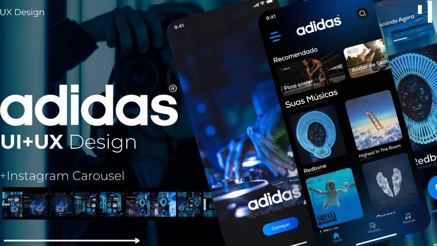 Adidas Music App Design Figma Free