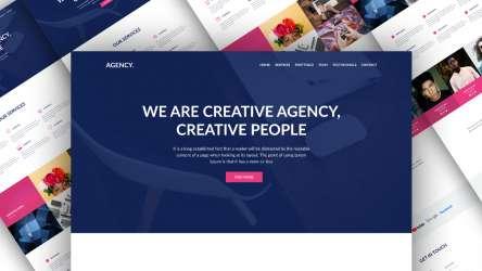 Agency Landing Page Design Free