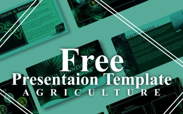 Agriculture Presentation Figma Template
