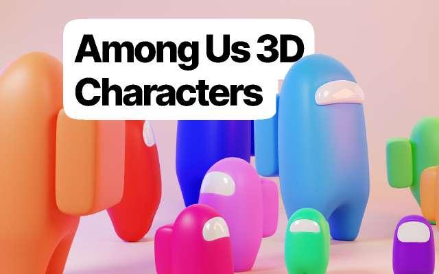 Among Us 3D Charecters figma
