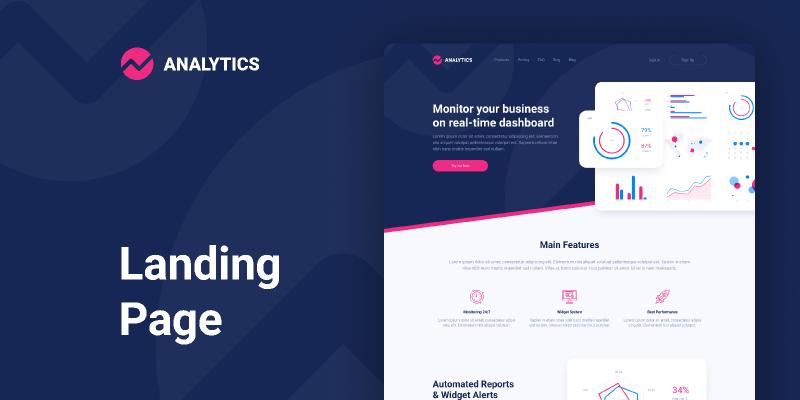 Analytics — Landing Page Design figma templates free