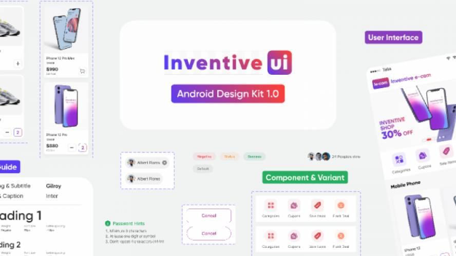 Android Design Kit - Inventiveui Figma