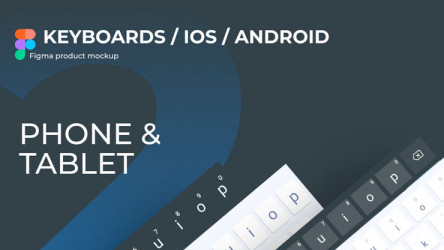 Android & IOS Keyboards figma free template