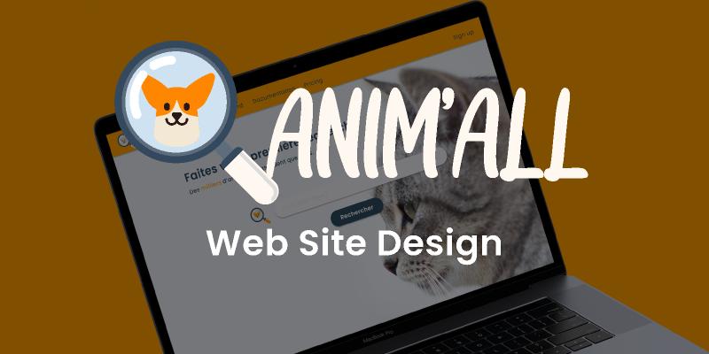 Anim'all Website template figma
