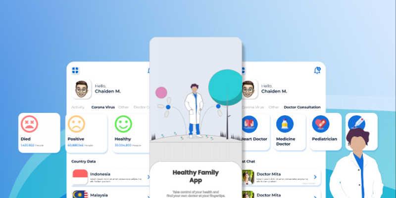 App Health figma mobile template