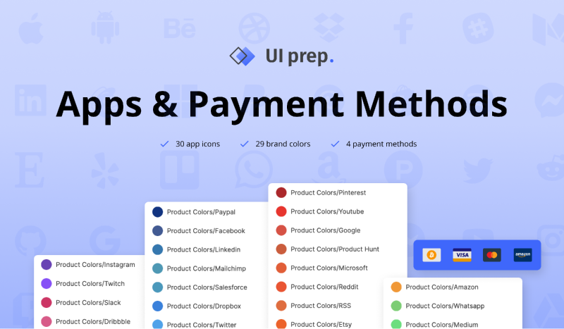 Apps & Payment Methods 3.0 Figma templates