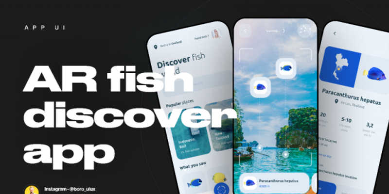 AR fish discover app figma