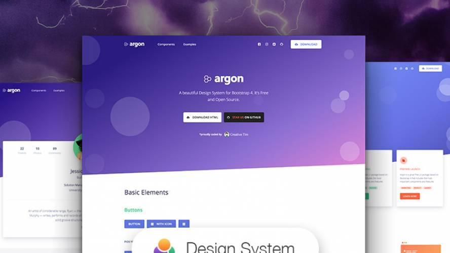 Argon Design System Figma Free