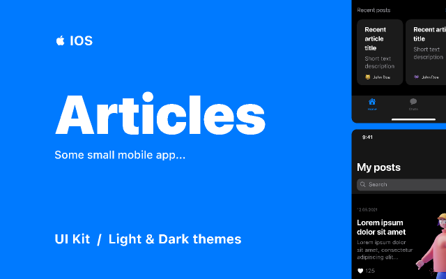 Articles  /   IOS App Figma