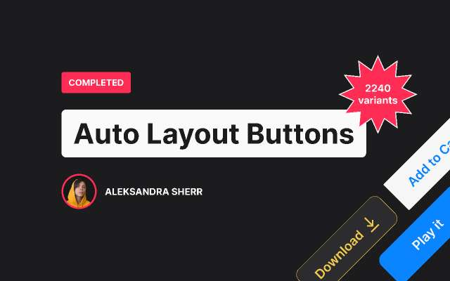 Auto Layout Buttons figma