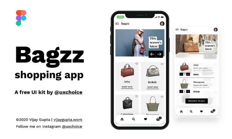 Bagzz - Shopping app UI kit
