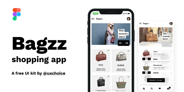 Bagzz - Shopping app UI kit