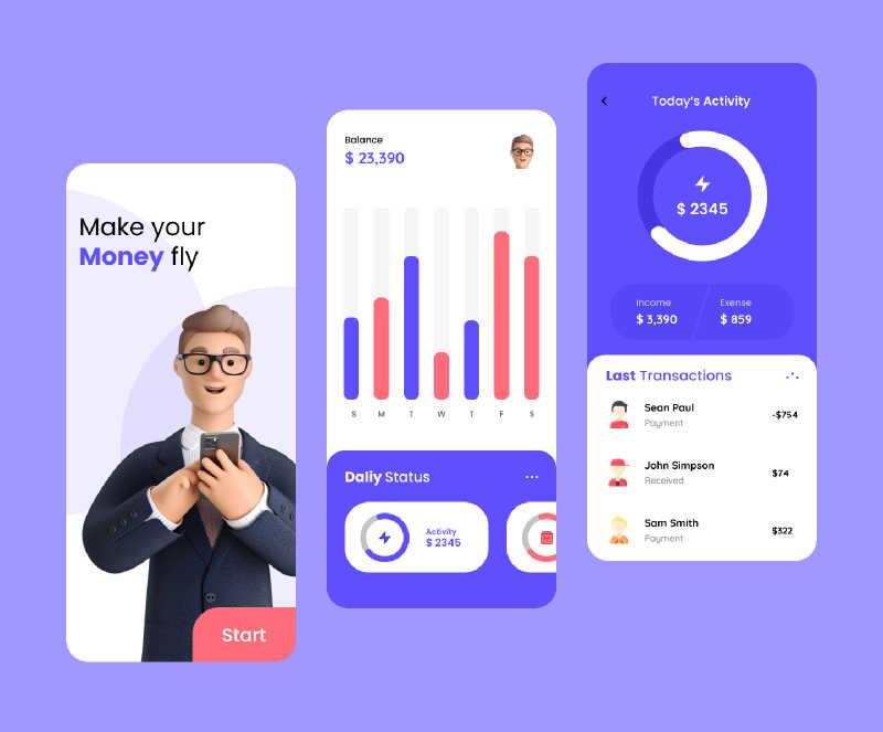 bank app ui figma