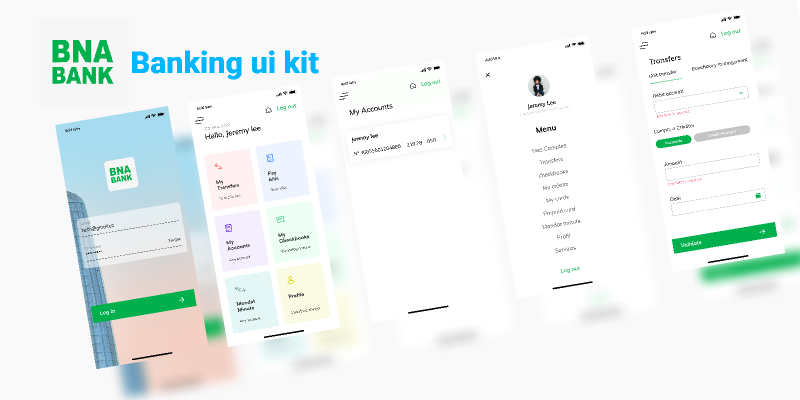 Banking ui kit Figma templates