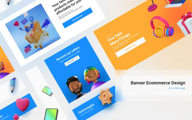 Banner ecommerce figma design