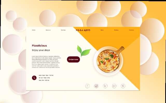 Beginner pizza website design figma