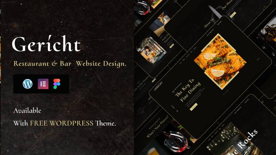 Best Free WordPress theme figma design