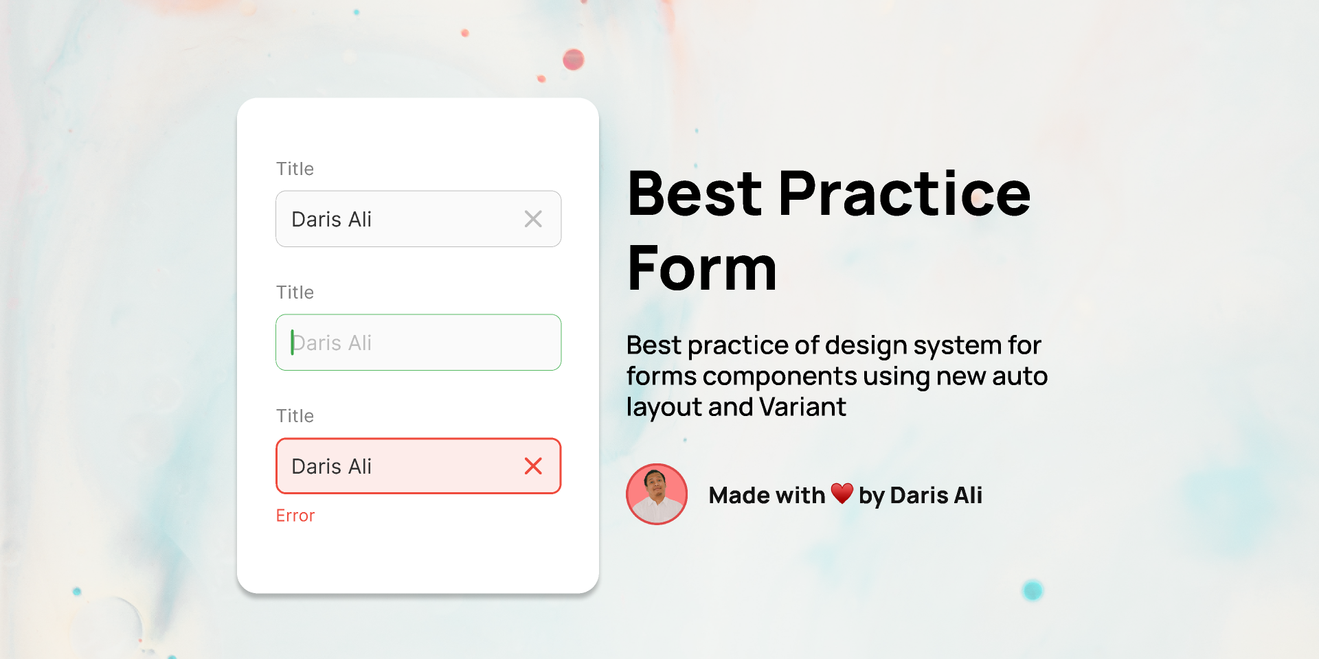 Best Practice Design System - Forms figma free