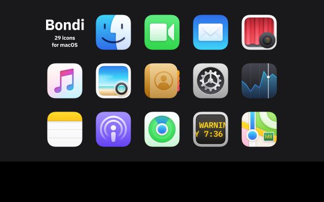 Bondi Icons for macOS Figma mockup