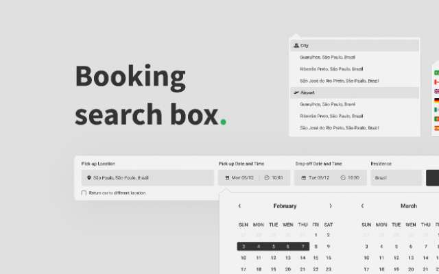 Booking Search Box Component
