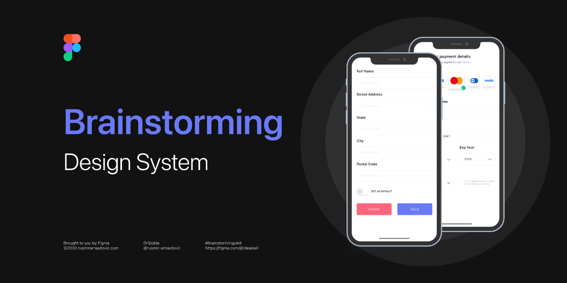 Brainstorming Design system (Free figma Template)