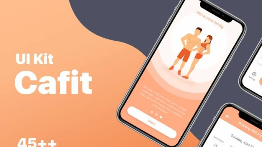 Cafit – Workout UI Kit figma templates