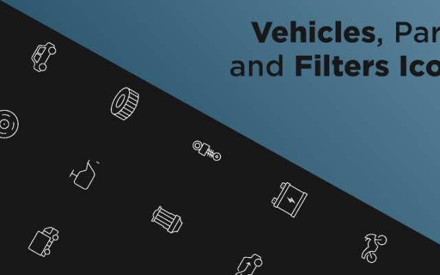 Car Parts Icon Set Figma free