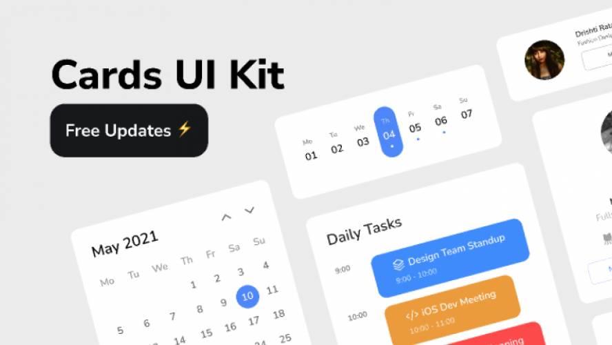 Cards UI Kit Figma