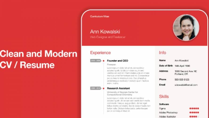 Clean CV / Resume Template