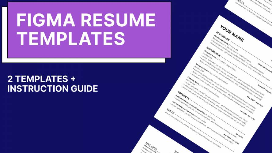 Clean Figma Resume Templates