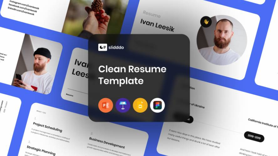 Clean Resume/CV Template for Figma Free Download