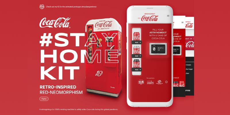 Coca Cola Delivery Neomorphism Prototype Figma
