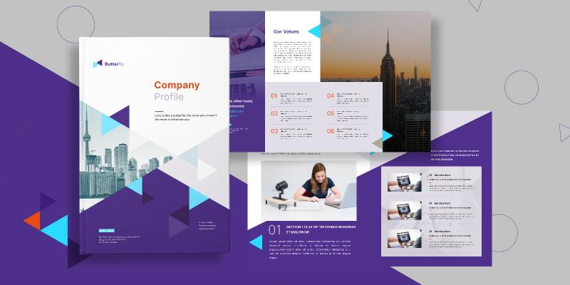 Company profile figma free