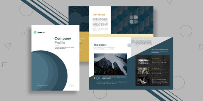 Company profile figma template